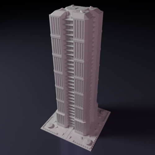 Skyscraper building for game like Monsterpocalypse 3D Print 223204