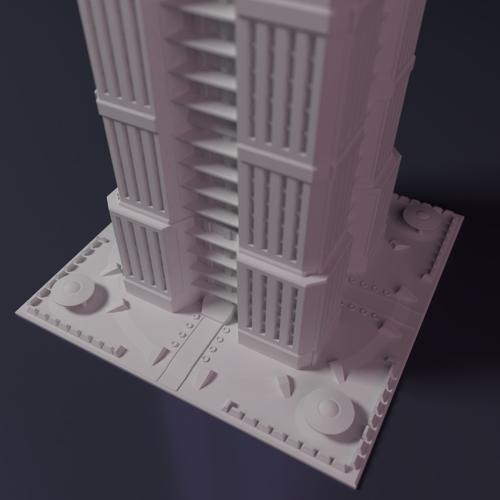 3D Printed Skyscraper Building For Game Like
