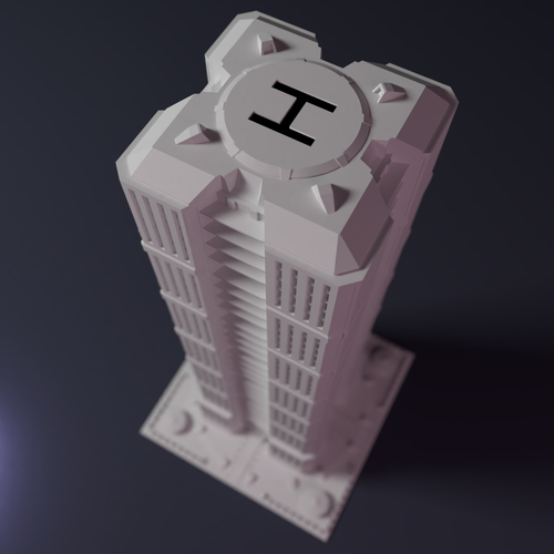 Skyscraper building for game like Monsterpocalypse 3D Print 223206