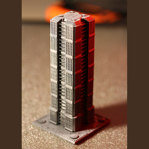 Skyscraper building for game like Monsterpocalypse 3D Print 223207