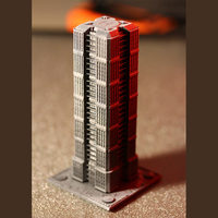 Small Skyscraper building for game like Monsterpocalypse 3D Printing 223207
