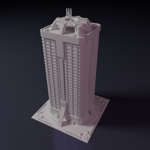 Apartment block building for games like Monsterpocalypse 3D Print 223215