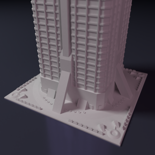Apartment block building for games like Monsterpocalypse 3D Print 223216