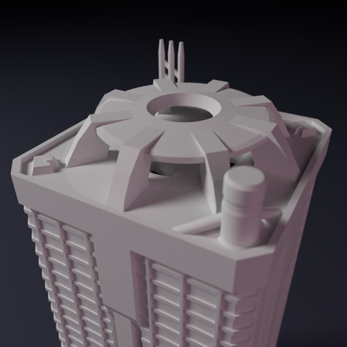 Apartment block building for games like Monsterpocalypse 3D Print 223217