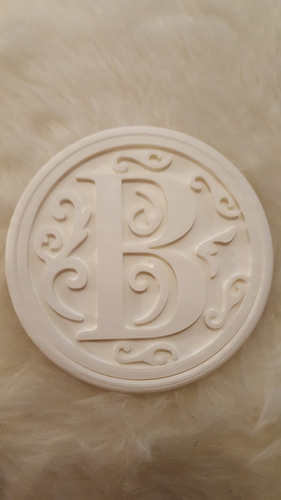 Drink-coaster with letter 'B' 3D Print 223303