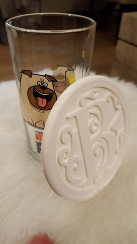 Drink-coaster with letter 'B' 3D Print 223305