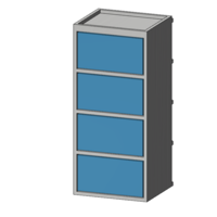 Small cabinet 1/10 (screw storage) 3D Printing 223315