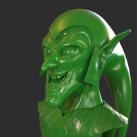Small Green Goblin Bust 3D Printing 223364