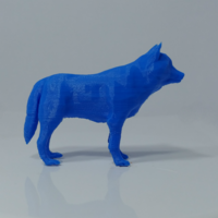 Small Low Poly Wolf 3D Printing 223448