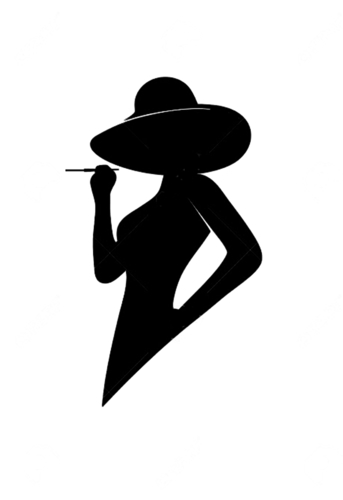 Silhouette lady profile wall Art 3D Print 223512