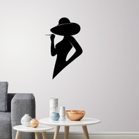Small Silhouette lady profile wall Art 3D Printing 223514