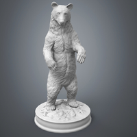 Small Black Bear Sculpture 3D Printing 223599