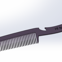 Small Handy Hair Comb  3D Printing 223703
