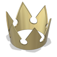 Small Sora Kingdom Hearts Crown 3D Printing 223849