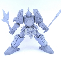 Small LIGHTNING SAMURAI NOT THUNDER MEGAZORD NO SUPPORT 3D Printing 223916