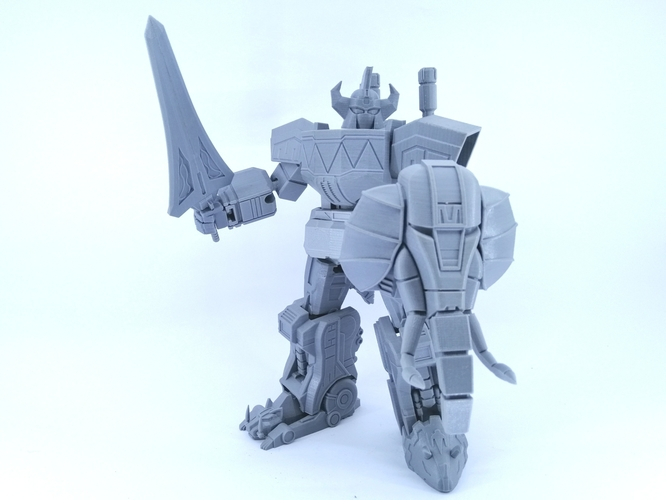 ARTICULATED POWER ROBOT NOT DINO MEGAZORD NO SUPPORT 3D Print 223929