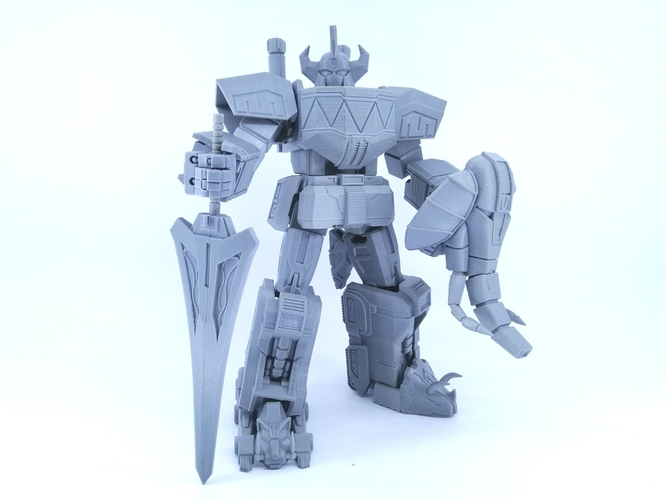 ARTICULATED POWER ROBOT NOT DINO MEGAZORD NO SUPPORT 3D Print 223931
