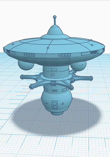 Star Trek Ascendancy Starbase Federation 3D Print 224273