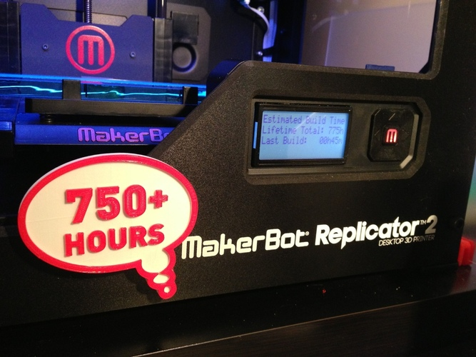 Printer Badge (Hours) 3D Print 22430