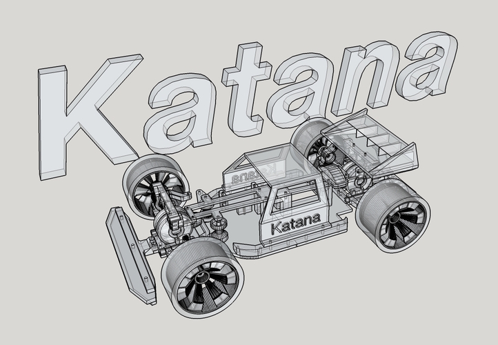 Katana Rc car 1:10 On/Off Road 3D Print 22443