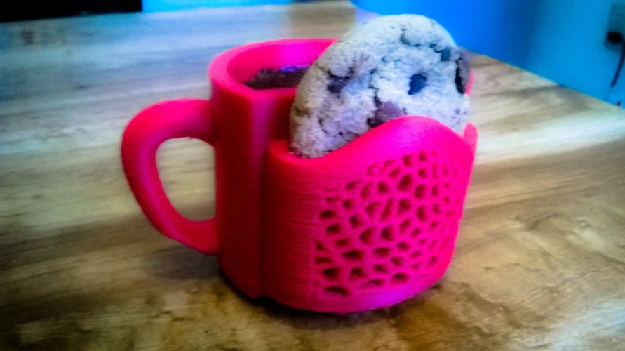 Cookie & Coffee Cup 3D Print 22447