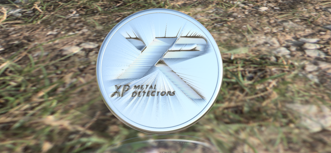 XP metal detector drink-coaster 3D Print 224471