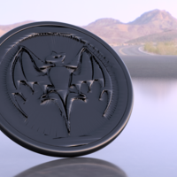 Small Bacardi drink-coaster 3D Printing 224486