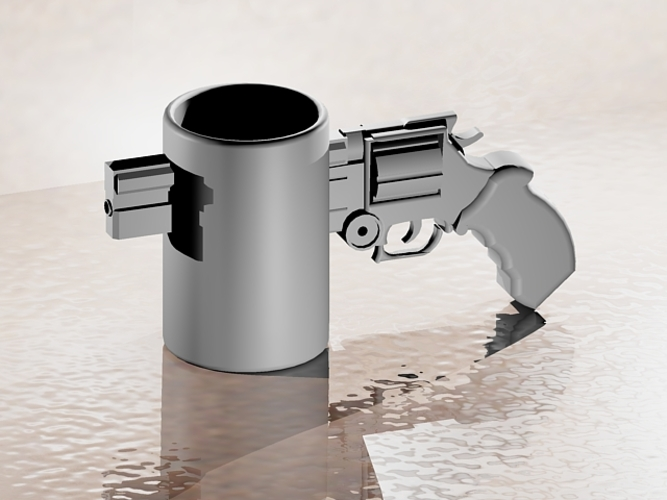 Revolver Coffee Cup 3D Print 22449
