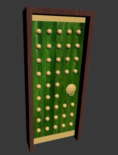 Asian Style Door 3D Print 224564