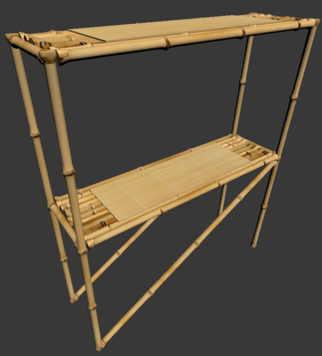 Bamboo Serving Table 3D Print 224566