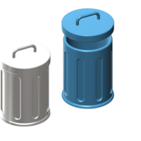 Small trash can 1/10 3D Printing 224611