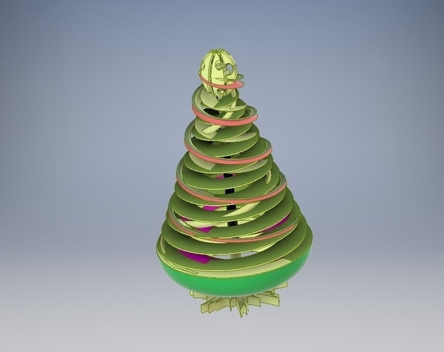 Coil Christmas Tree 3D Print 224661