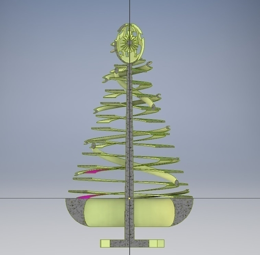 Coil Christmas Tree 3D Print 224665