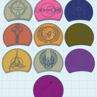 "Small  Star Trek Ascendancy Starbase Chip-Set ""Race Pack"" 3D Printing 224669"