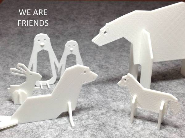 Medium Simple Animals 4 - Polar Series 3D Printing 22467