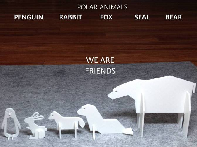 Simple Animals 4 - Polar Series 3D Print 22469