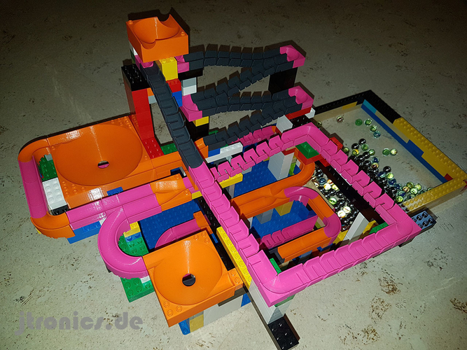Marble Run Building Brick - Set BASIC 3D Print 224735