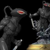 Small Black Manta from aquaman movie 3D Printing 224787