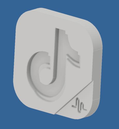 Download STL file TIKTOK LOGO • 3D printing design ・ Cults