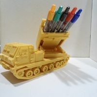 Small Missiles Launcher Pen & Pencil holder 3D Printing 224819
