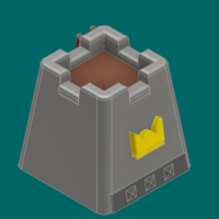 Small Crown tower 3D Printing 224923