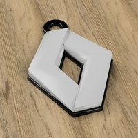 Small Renault Keychain 3D Printing 224946