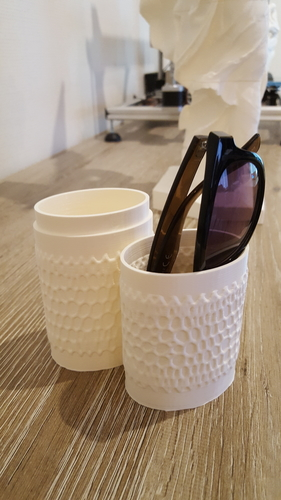 Sunglasses case (with voronoi pattern) 3D Print 224949