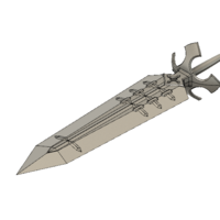 Small Demon Dweller Sword 3D Printing 225006