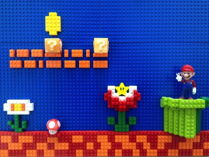 Collaborate with Lego to decorate Mario world 3D Print 22509