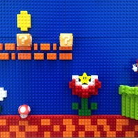 Small Collaborate with Lego to decorate Mario world 3D Printing 22509