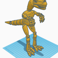 Small Connectable Dinosaur 3D Printing 225108