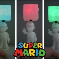 Small Super Mario with shining question box 3D Printing 22511