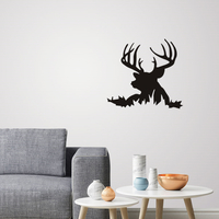Small Deer Silhouette for wall art 3D Printing 225176