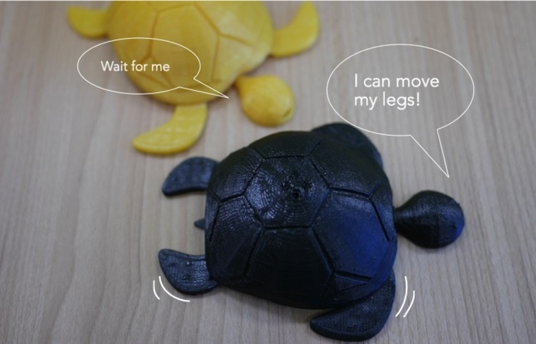 Turtle with moving legs 3D Print 22521